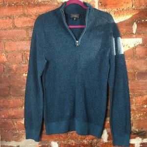 Express 1/4 Zip Cable Knit Cotton Sweater Size M
